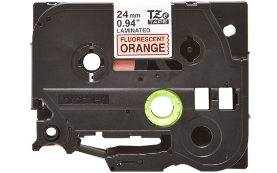 Genuine Brother TZe-B51 Labelling Tape Cassette – Black on Fluorescent Orange, 24mm wide 2
