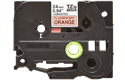 Brother TZeB51 original etikettape, svart på fluorescerande orange, 24 mm