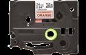 24mm black on fluorescent  orange standard adhesive laminated TZe tape cassette (5 metres)