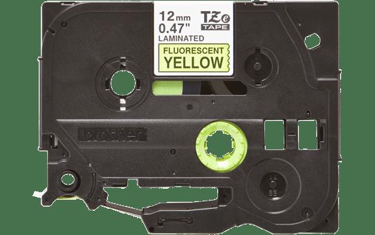 Originální kazeta s páskou Brother TZe-C31 - černý tisk na fluorescenční žluté, šířka 12 mm 2