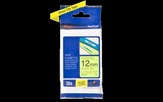Originele Brother TZe-C31 label tapecassette – zwart op fluorescerend geel, breedte 12 mm 3