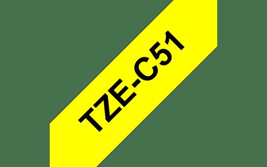 Brother TZe-C51 Schriftband – schwarz auf signalgelb 2