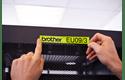 Original Brother TZeC51 merketape – sort på fluorescerende gul, 24 mm bred 4