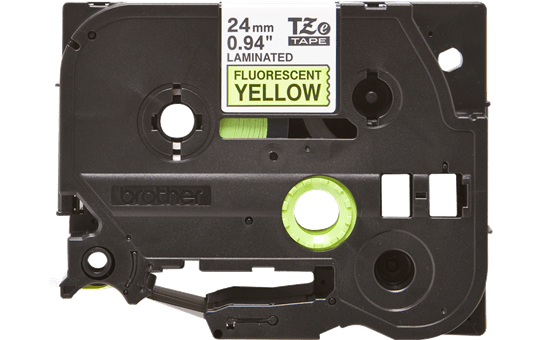 Genuine Brother TZe-C51 Labelling Tape Cassette – Fluorescent Yellow, 24mm wide 2