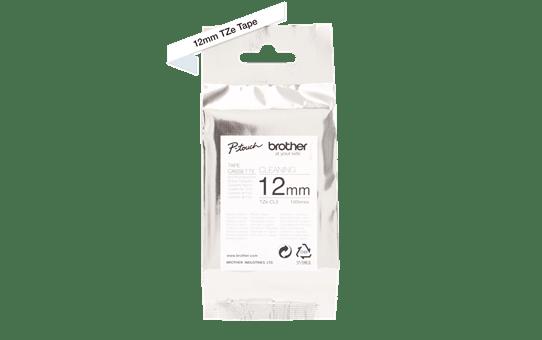 Cassetta nastro di pulizia della testina di stampa Brother TZe-CL3 – 12 mm di larghezza 2