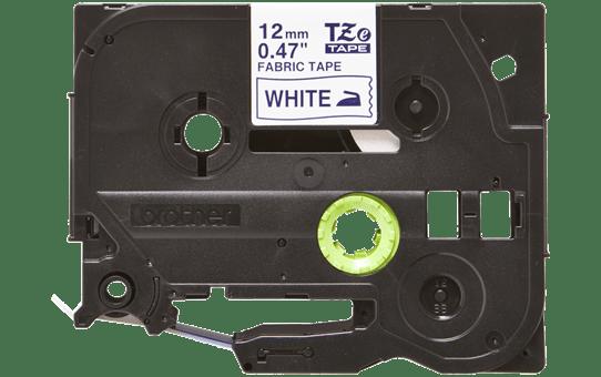 Original TZe-FA3 Textilaufbügelbandkassette von Brother – Blau auf Weiß, 12mm breit 2