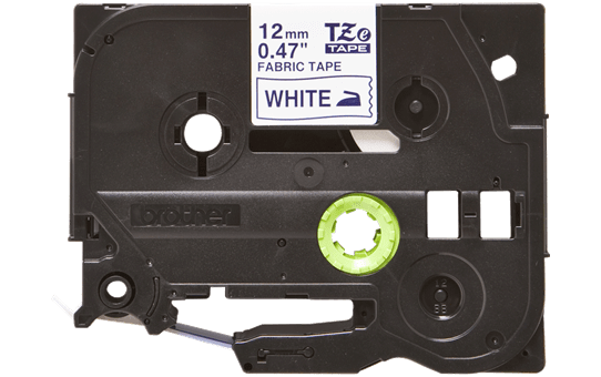 Originele Brother TZe-FA3 textieltapecassette – blauw op wit, breedte 12 mm 2