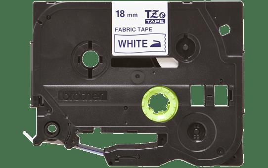 TZe-FA4 - Cassette originale à ruban tissu - bleu sur blanc - pour étiqueteuse Brother - 18mm de large 2