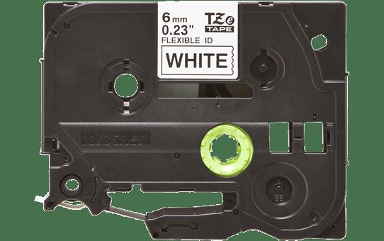Cassetta nastro per etichettatura originale Brother TZe-FX211 – Nero su bianco, 6 mm di larghezza