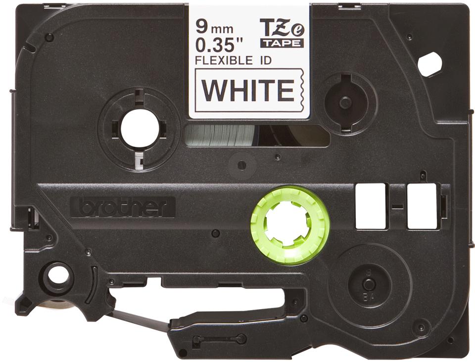 Eredeti Brother TZe-FX221 szalag fehér alapon fekete, 9mm széles 2