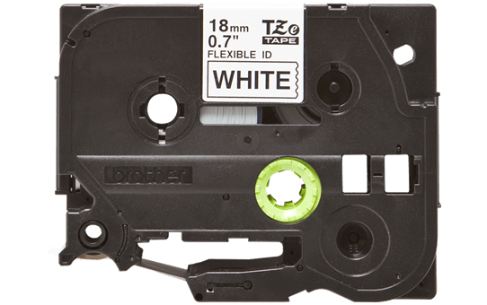 Genuine Brother TZe-FX241 Labelling Tape Cassette – Black on White, 18mm wide 2