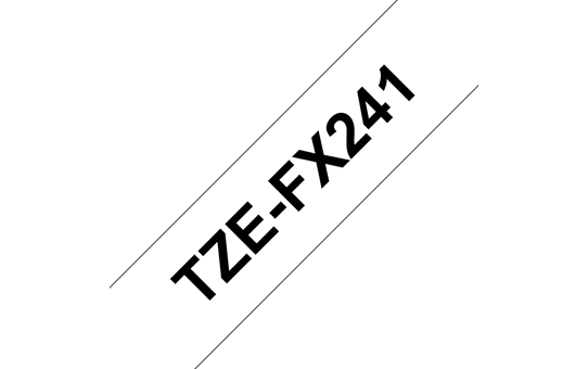 Genuine Brother TZe-FX241 Labelling Tape Cassette – Black on White, 18mm wide