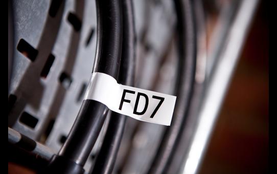 Originele Brother TZe-FX251 flexibele ID label tapecassette – zwart op wit, breedte 24 mm 4
