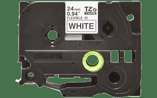 Brother TZe-FX251 - черен текст на бяла гъвгава лента, ширина 24mm 2