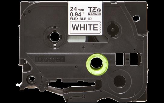 Cassetta nastro per etichettatura originale Brother TZe-FX251 – Nero su bianco, 24 mm di larghezza