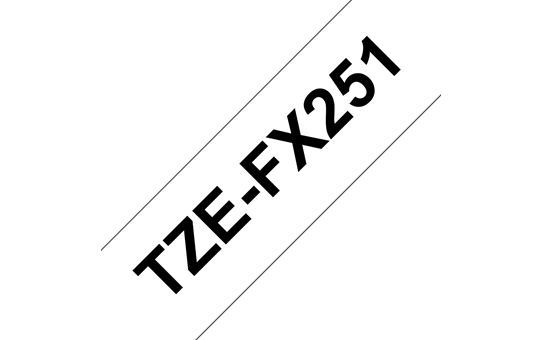 Genuine Brother TZe-FX251 Labelling Tape Cassette – Black on White Flexible-ID, 24mm wide