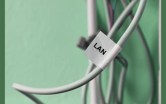 Oryginalna taśma identyfikacyjna Flexi ID TZe-FX261 firmy Brother – czarny nadruk na białym tle, 36mm szerokości 4