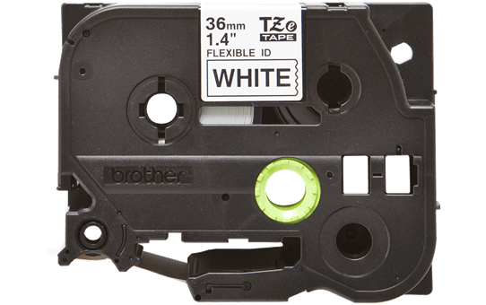 Original Brother TZeFX261 tape – sort på hvid, 36 mm bred 2