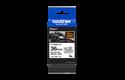 Oryginalna taśma identyfikacyjna Flexi ID TZe-FX261 firmy Brother – czarny nadruk na białym tle, 36mm szerokości 3