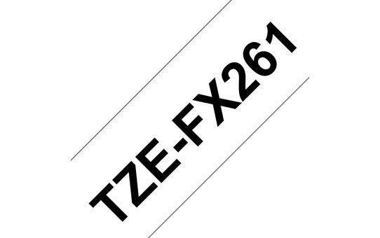 Original Brother TZeFX261 fleksibel ID merketape – sort på hvit, 36 mm bred