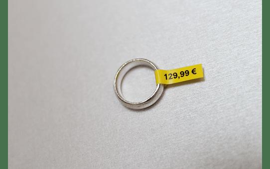 Original TZe-FX611 Flexi-Schriftbandkassette von Brother – Schwarz auf Gelb, 6mm breit 4