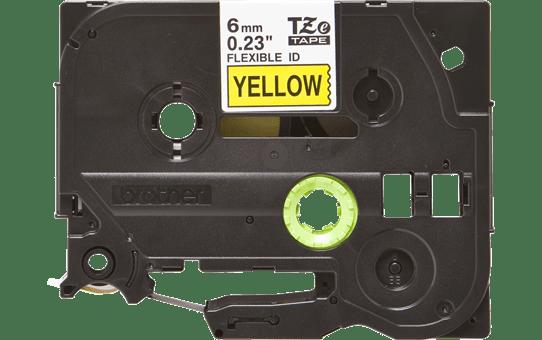 Originele Brother TZe-FX611 flexibele ID label tapecassette – zwart op geel, breedte 6 mm 2