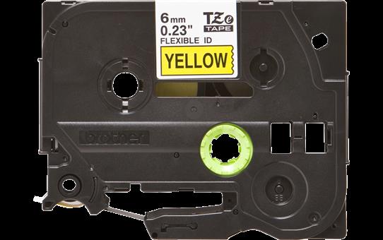 Eredeti Brother TZe-FX611 szalag  – Sárga alapon fekete, 6 mm széles 2