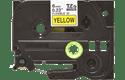 Original TZe-FX611 Flexi-Schriftbandkassette von Brother – Schwarz auf Gelb, 6mm breit 2