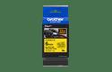 Cassetta nastro per etichettatura originale Brother TZe-FX611 – Nero su giallo, 6 mm di larghezza 2