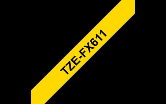 Originalna Brother TZe-FX611 kaseta s prilagodljivim ID-trakom za označevanje