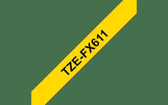 TZe-FX611 flexibele labeltape 6mm