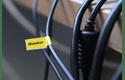 Casetă cu bandă de etichete originală Brother TZe-FX621 – negru pe galben flexibilă ID, lățime de 9mm 4