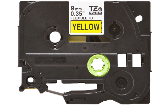 Genuine Brother TZe-FX621 Labelling Tape Cassette – Black on Yellow, 9mm wide 2