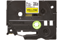 Genuine Brother TZe-FX621 Labelling Tape Cassette – Black on Yellow, 9mm wide