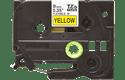 Original Brother TZeFX621 tape – sort på gul, 9 mm bred 2