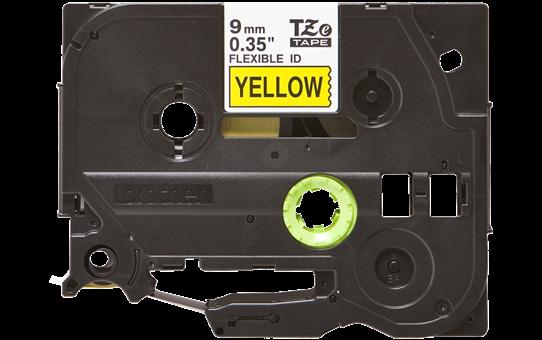 Original Brother TZeFX621 fleksibel ID merketape – sort på gul, 9 mm bred 2
