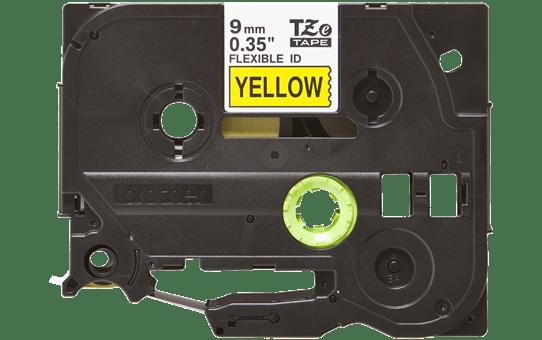 Casetă cu bandă de etichete originală Brother TZe-FX621 – negru pe galben flexibilă ID, lățime de 9mm 2