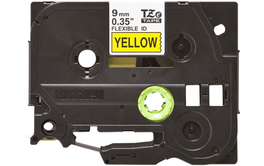 Brother TZeFX621 original etikettape, svart på gul, 9 mm  2