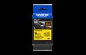 Brother TZe-FX621 - черен текст на жълта гъвгава лента, ширина 9mm 3