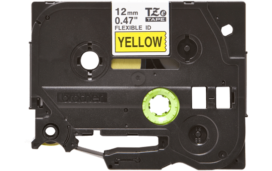 Originální kazeta s páskou Brother TZe-FX631 - černý tisk na žluté, šířka 12 mm 2