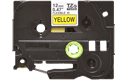 Genuine Brother TZe-FX631 Labelling Tape Cassette – Black on Yellow, 12mm wide