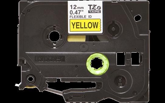 Oryginalna taśma identyfikacyjna Flexi ID TZe-FX631 firmy Brother – czarny nadruk na żółtym tle, 12mm szerokości 2