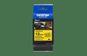 Oryginalna taśma identyfikacyjna Flexi ID TZe-FX631 firmy Brother – czarny nadruk na żółtym tle, 12mm szerokości 3