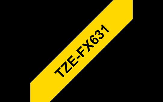 TZe-FX631 ruban d'étiquettes flexibles 12mm