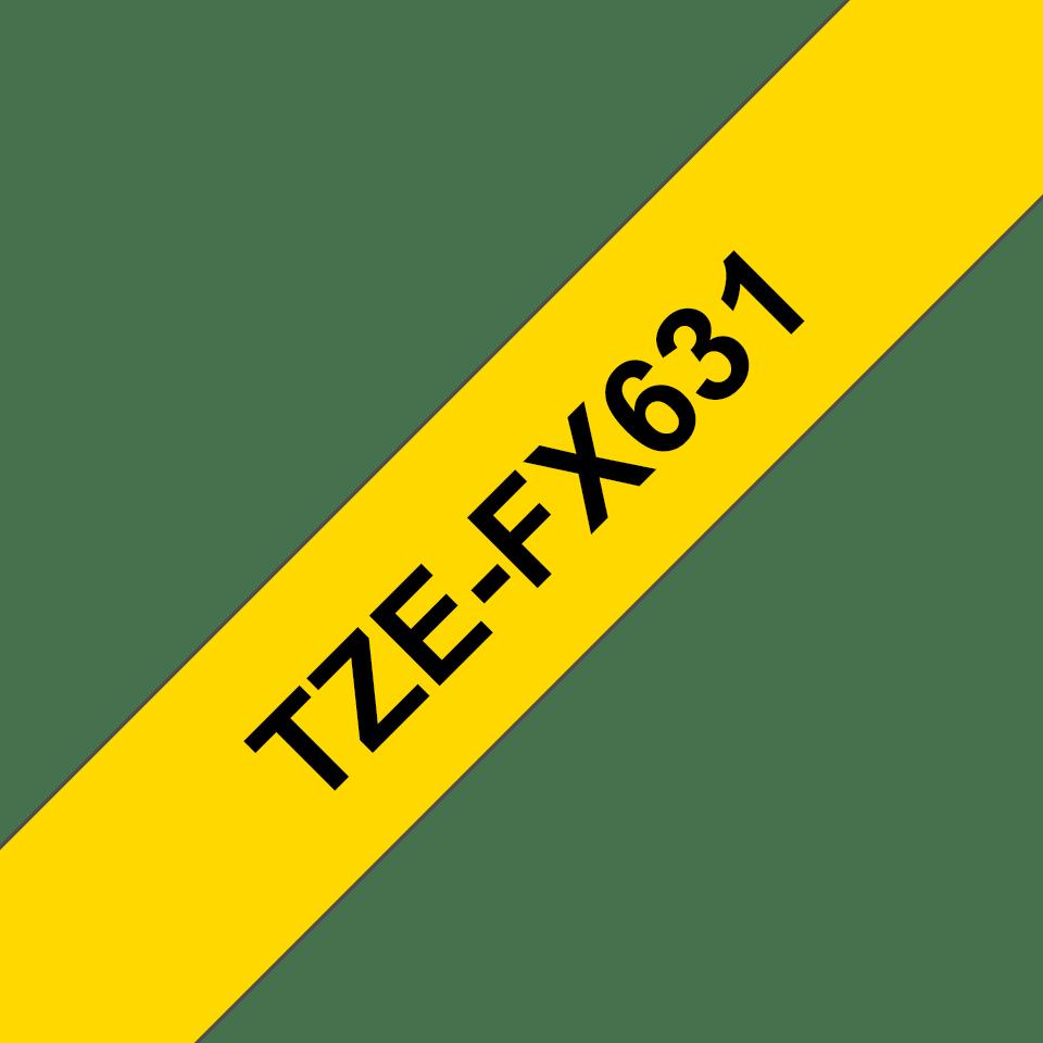 Originalna Brother TZe-FX631 kaseta s prilagodljivim ID-trakom za označevanje