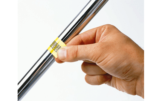 Originele Brother TZe-FX641 flexibele ID label tapecassette – zwart op geel, breedte 18 mm 4