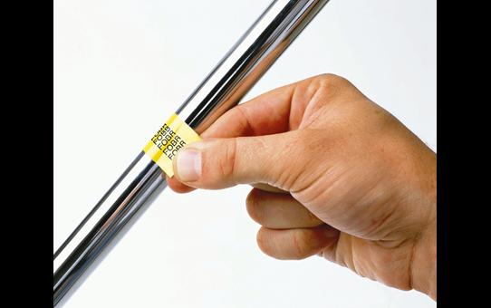 Original Brother TZeFX641 fleksibel ID merketape – sort på gul, 18 mm bred 4