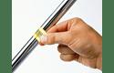 Casetă cu bandă de etichete originală Brother TZe-FX641 – negru pe galben flexibilă ID, lățime de 18mm 4