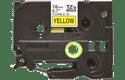 Brother TZeFX641: оригинальная кассета с лентой для печати наклеек черным на желтом фоне с универсальным ИД, ширина: 18 мм.