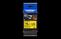 Brother TZe-FX641 - черен текст на жълта гъвгава лента, ширина 18mm 3